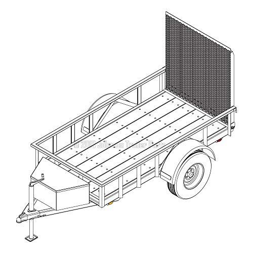 - 4′ x 8′ Utility Trailer Plans - 3,500 lb Capacity | Trailer Blueprints Model U49-96-35J