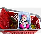 Binxy Baby Shopping Cart Hammock (Raindrops in Blue)
