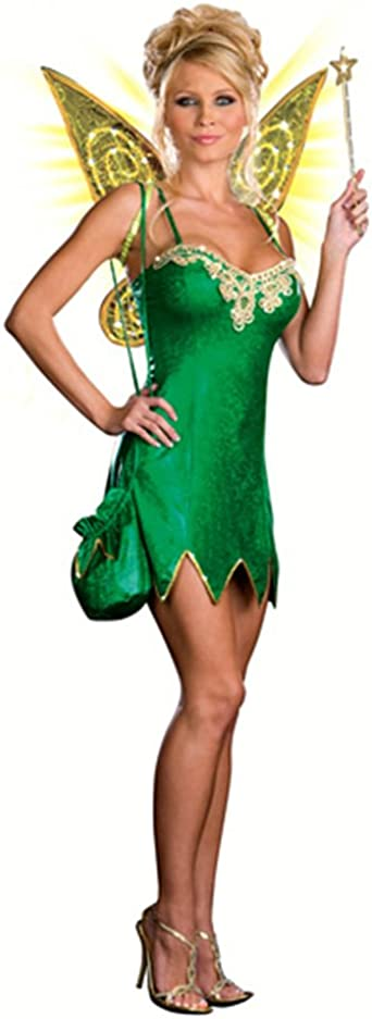 Details about  /SEXY TINKERBELL DELUXE FAIRY PIXIE ADULT WOMENS FANCY DRESS HALLOWEEN COSTUME