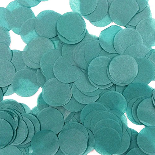 Wrapables 1 Inch Round Tissue Confetti Party Decorations for Weddings, Birthday Parties, and Showers, Teal