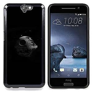 "Qstar Arte & diseño plástico duro Fundas Cover Cubre Hard Case Cover para HTC One A9 (Estrella de la Muerte"")"