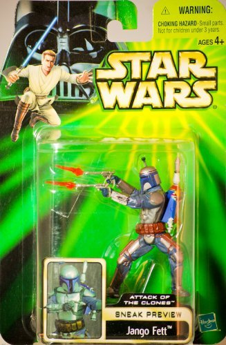 Rare Plastic Figure (2001 - Hasbro - Star Wars - Sneak Preview Series - Attack of the Clones - Jango Fett Action Figure - New - Rare - Out of Production - Limited Edition - Collectible)
