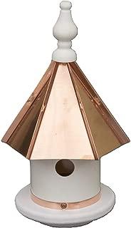 "product image for Saving Shepherd 13"" Copper Top Birdhouse - Beautiful Weatherproof Azek Vinyl Wren Bird Condo House Amish Handcrafted in Lancaster Pennsylvania USA"