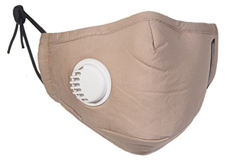 Healthy Air Mask N99 Anti-dust Mask w/Exhaust Valve (Various Colors) (Beige)
