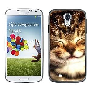 Be Good Phone Accessory // Dura Cáscara cubierta Protectora Caso Carcasa Funda de Protección para Samsung Galaxy S4 I9500 // Maine Coon Kitten Small Baby Selkirk