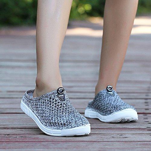 Dry Grey Sandals Clogs Women's Fashionable easy Lightwight Beach Comfortable Shoes Slippers Lehozoe B7SZqzwZ
