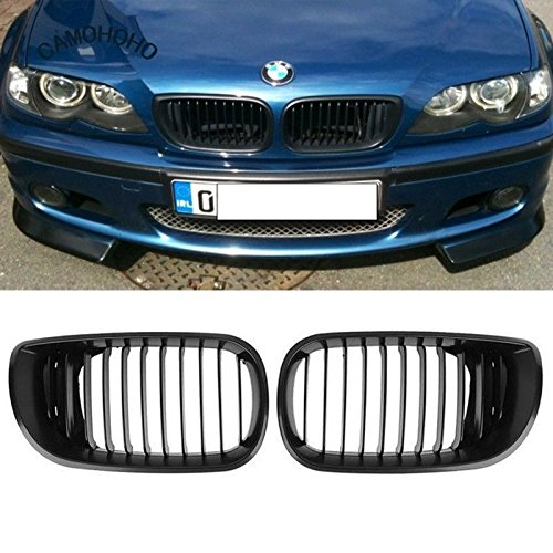 - YUK Black Kidney Front Grille for BMW E46 3 Series 4 DOOR 4D 2002-2005 LCI Facelift
