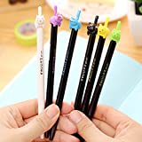 Katoot@ 8 pcs/Lot Cute kitties black ink gel pen Lucky cat Kawaii stationery zakka Office material escolar school supplies (Colorful)