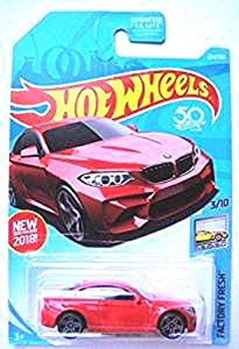 (Hot Wheels 2018 50th Anniversary Factory Fresh 2016 BMW Model M2 254/365, Red)