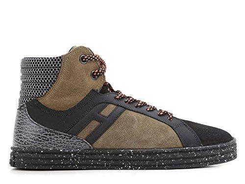 Zapatos de las zapatillas de deporte del top de los hombres rebeldes de Hogan Rebel - Número de modelo: HXM1410R283DWN0XDA Multicolor