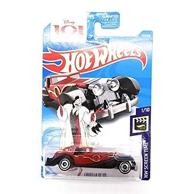Hot Wheels 2020 HW Screen Time Disney's 101 Dalmations Cruella De Vil 127/250, Red: Toys & Games