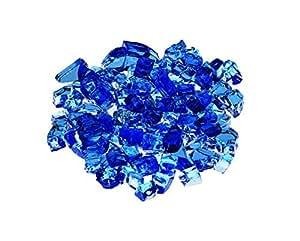Aqua azul Premium al aire libre fuego cristal Rock 5-Pound 1/4pulgadas