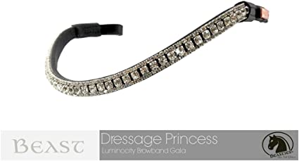 Silver Crystal Browband Wave Shaped Browband Show Browband Sizes Full Cob Pony