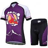JT-Amigo Kids Cycling Jersey Set (Short Sleeve Jersey + Padded Shorts)