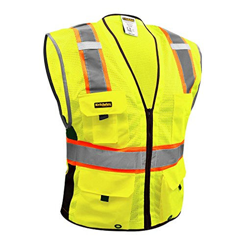 Security & Protection High Visibility Two Tone Mesh Safety Vest Reflective With Pockets And Zipper For Construnction Engineer Sturdy Construction Safety Clothing