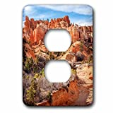 3dRose DanielaPhotography - Landscape, Nature - Castle in the sky - Water Canyon, a rock formation in Utah, USA. - Light Switch Covers - 2 plug outlet cover (lsp_281972_6)