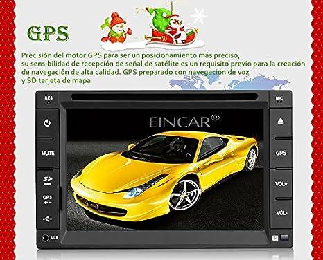 Wince 6.0 Universal Unidad Principal Bluetooth ESTšŠreo del Coche GPS Sat Nav DVD Reproductor 6,2 Pulgadas FM Am RDS autoradio con 8GB SD Tarjeta gratitua ...