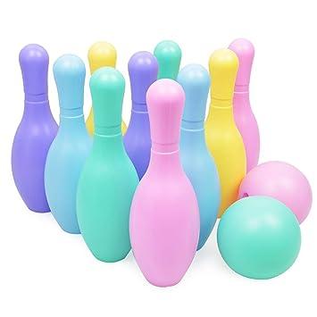 YTBLF Bowling De Interior 30CM Bowling Grande Ocio Deportes Juguetes para Niños Juego De Bolos De