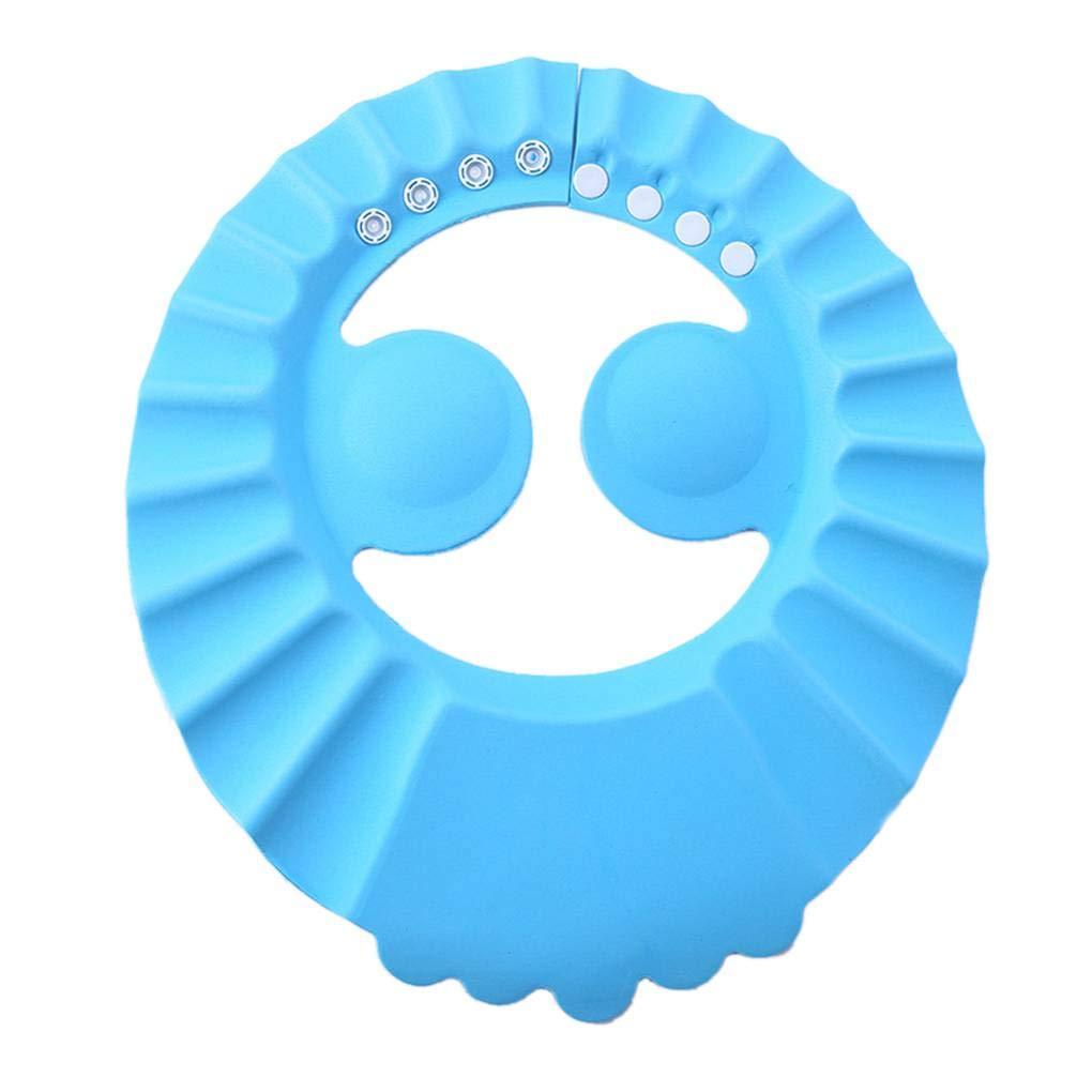 Babysbreath17 Cap regolabile capretto del bambino i più piccoli dei capelli del cappello della lavata Shampoo bagnarsi bagno doccia Ear Shield Guardia Baby scudo di protezione rosa