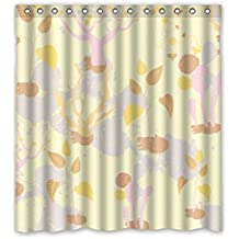 Eyeselect Shower Drape Width X Height / 66 X 72 Inches / W H 168 By 180 Cm(fabric) Nice Choice For Mother Father Boys Kids Kids Girl. Mildew Resistant Colorful Geometry Polyester