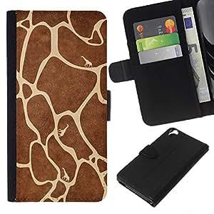 EJOY---La carpeta del tirón la caja de cuero de alta calidad de la PU Caso protector / HTC Desire 820 / --Modelo de la jirafa
