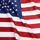 ANLEY [EverStrong Series] American US Flag 4x6 Foot Heavy Duty Nylon - Embroidered Stars and Sewn Stripes - 4 Rows of Lock Stitching - USA Banner Flags with Brass Grommets 4 X 6 Ft