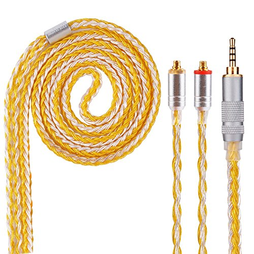 Headphone Extension Cable,16 Core MMCX Replacement Cable,Upgrade Silver Plated Cable Replacement for SHURE SE215、SE846、SE425、SE535、SE535LTD-J、SE315 PRO H5 HQ5,KZ,F30 Better Earphones (MMCX 2