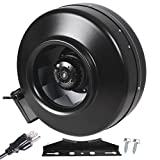 Strong CFM Ventilation 6'' Inch Inline Fan Hydroponics Exhaust Cooling Duct Fan