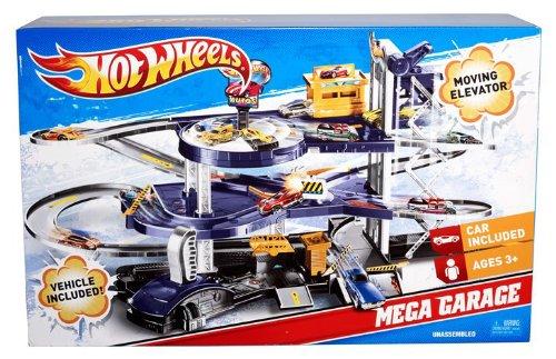Amazoncom Mattel Hot Wheels Mega Garage Playset V3260 Toys Games