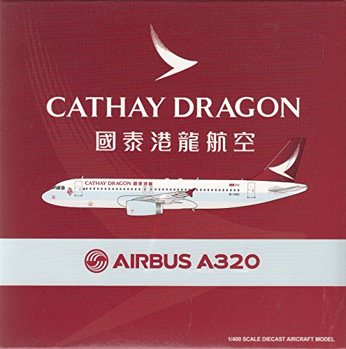 JCW40698 1:400 JC Wings Cathay Dragon Airbus A320 Reg #B-HSO (pre-painted/pre-built)
