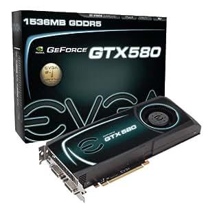 EVGA GeForce GTX 580 1536 MB GDDR5 PCI Express 2.0 2DVI/Mini-HDMI SLI Ready Limited Lifetime Warranty Graphics Card, 015-P3-1580-AR