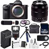 Sony Alpha a7R II Mirrorless Digital Camera (International Model no Warranty) + Sony E-Mount SEL 1855 18-55mm Zoom Lens (Black) + 49mm 3 Piece Filter Kit 6AVE Bundle 17