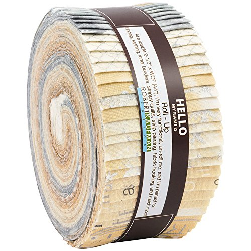 Winter's Grandeur 6 Champagne Roll up 40 2.5-inch Strips Jelly Roll Robert Kaufman Fabrics RU-733-40