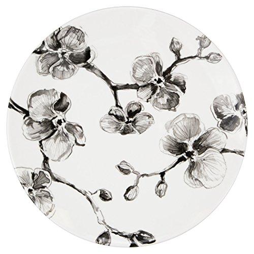 MADHOUSE by Michael Aram 6-Count Melamine Dinner Plate, Black (Orchid Dinner)