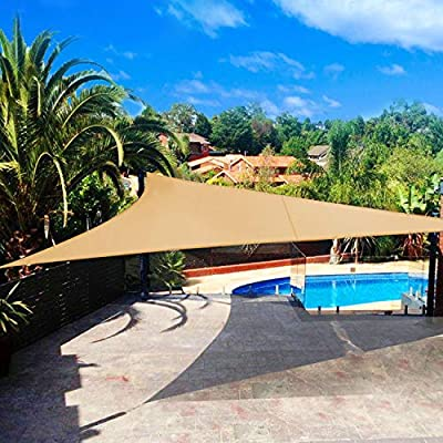 Shade&Beyond - Toldo para patio triangular de 30, 48 x 30, 48 x 30, 48 cm, toldo para toldo UV: Amazon.es: Jardín