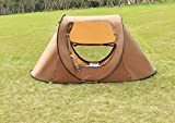 "K&A Company 2-3 Persons Waterproof Camping Tent with Carry Bag New Outdoor 210D Oxford 94.5"" x 55"" x 43.3"" Brown"
