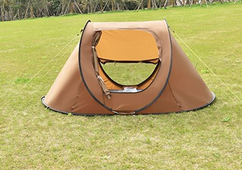 "K&A Company 2-3 Persons Waterproof Camping Tent with Carry Bag New Outdoor 210D Oxford 94.5"" x 55"" x 43.3"" Brown by K&A Company"