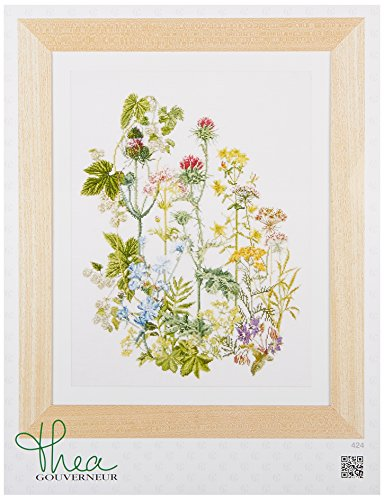 Thea Gouverneur TG424A 18 Count Counted Cross Stitch Kit, 13-3/4 by 18-1/8-Inch, Herb Panel on ()