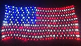 PYSICAL® 6.5ft×3.2ft Led Flag Net Lights of The United States,for Festival,Holiday,Garden,Indoor Decoration