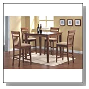Coaster Casual Contemporary Style Counter Height Dining, 5-Piece Set