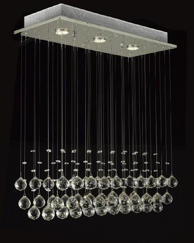 modern chandelier rain drop lighting crystal ball fixture pendant