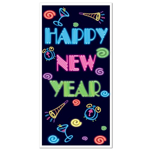 Happy New Year Door Cover Party Accessory (1 count) (1/Pkg)]()