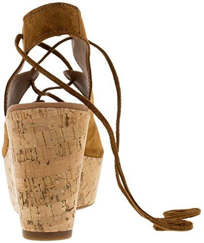 Alpe Team 1914 Whisky Sandalias, Plataforma,Bloque, Mujer Oro