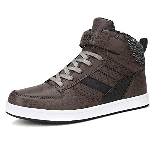 ASHION Men Trainers Sneakers High Top Ankle Boots Boy Casual Shoes Grey for nice online discount nicekicks discount pre order factory outlet discount best wholesale GT7zA2d