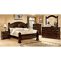 247SHOPATHOME Idf-7791EK-6PC Bedroom-Furniture-Sets, King, Cherry
