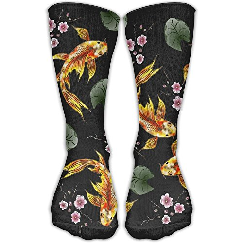 Klnsha7 Gold Fish And Cherry Blossoms Compression Socks For Wome And (Blossom Socks)