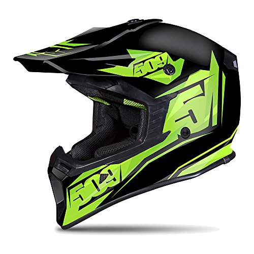 509 Tactical Snowmobiling Helmet - Black Lime (LG) by 509
