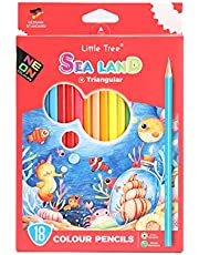 Little Tree Lovely Colored Pencils for Children - Triangular Premier Colored Pencils for Adults at Office, Painting, Art, School, Safety,Sea Land, Drawing kit