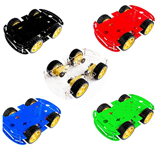 Seajunn 5 colors (choose one color )4WD Smart Robot Car Chassis Kits for arduino with Speed