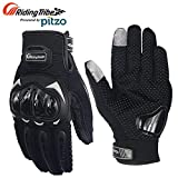 Probiker Riding Tribe Touch Screen Protective Gloves for Motor cycle / Bike /Moto Cross / Outdoor Sports Bicycle Cycling / Racing / Driving / Riding - Full Finger Black XXL